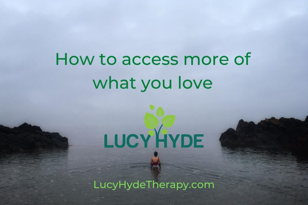 Lucy Hyde therapist helping you access what you love